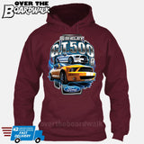 SHELBY GT500 Mustang - FORD LICENSED [T-shirt/Hoodie/Tank Top]-Hoodie-Maroon-Over The Boardwalk Shirts