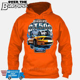 SHELBY GT500 Mustang - FORD LICENSED [T-shirt/Hoodie/Tank Top]-Hoodie-Orange-Over The Boardwalk Shirts