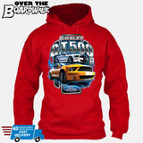 SHELBY GT500 Mustang - FORD LICENSED [T-shirt/Hoodie/Tank Top]-Hoodie-Red-Over The Boardwalk Shirts