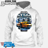 SHELBY GT500 Mustang - FORD LICENSED [T-shirt/Hoodie/Tank Top]-Hoodie-White-Over The Boardwalk Shirts