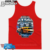 SHELBY GT500 Mustang - FORD LICENSED [T-shirt/Hoodie/Tank Top]-Tank Top (men's cut)-Red-Over The Boardwalk Shirts