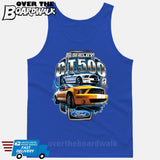SHELBY GT500 Mustang - FORD LICENSED [T-shirt/Hoodie/Tank Top]-Tank Top (men's cut)-Royal Blue-Over The Boardwalk Shirts