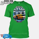 SHELBY GT500 Mustang - FORD LICENSED [T-shirt/Hoodie/Tank Top]-T-Shirt-Kelly Green-Over The Boardwalk Shirts