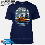 SHELBY GT500 Mustang - FORD LICENSED [T-shirt/Hoodie/Tank Top]-T-Shirt-Navy-Over The Boardwalk Shirts