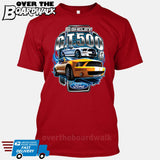 SHELBY GT500 Mustang - FORD LICENSED [T-shirt/Hoodie/Tank Top]-T-Shirt-Red-Over The Boardwalk Shirts