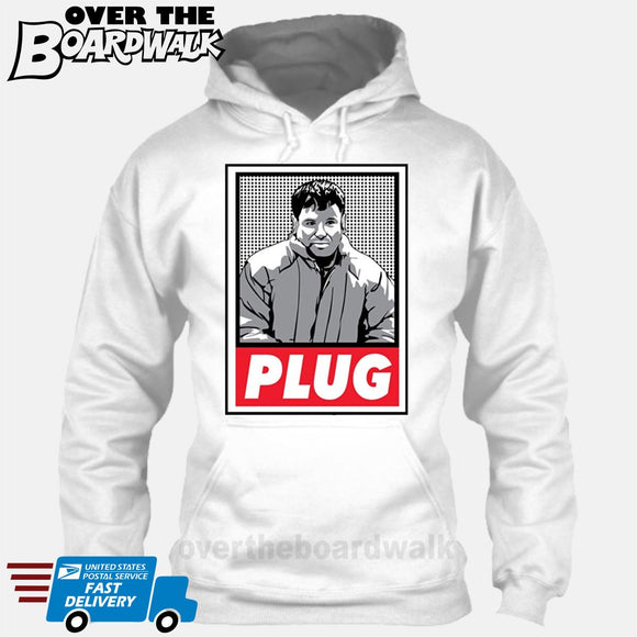 PLUG El Chapo Guzman | Narcos Drug Cartel Lords [T-shirt/Hoodie/Tank Top] Hoodie / White - Over The Boardwalk Shirts