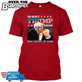 Re-Elect Trump 2020 Make Liberals Cry Again - Reelect MAGA Elections Politics USA GOP Republican [T-shirt]-T-Shirt-Red-Small-Over The Boardwalk Shirts