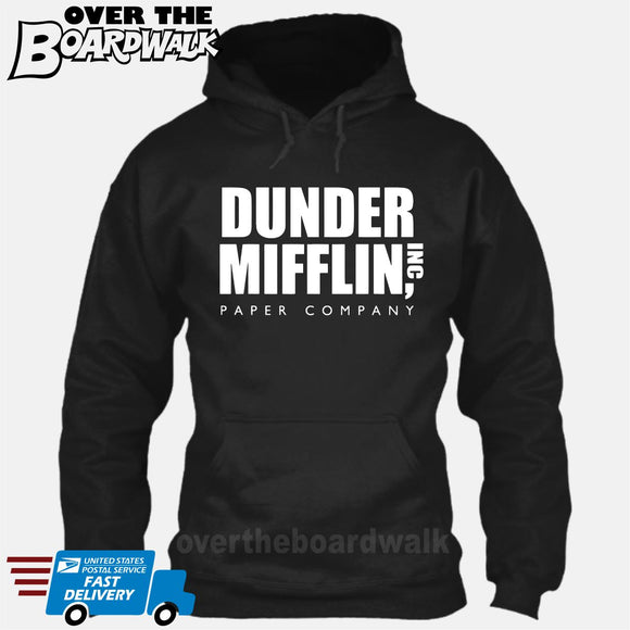 Dunder Mifflin Paper Company Logo Funny TV Joke [T-shirt/Hoodie/Tank Top] Hoodie / Black - over-the-boardwalk