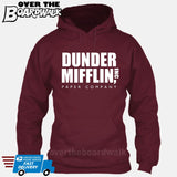 Dunder Mifflin Paper Company Logo Funny TV Joke [Hoodie] Hoodie / Maroon / Small - Over The Boardwalk Shirts