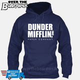 Dunder Mifflin Paper Company Logo Funny TV Joke [Hoodie] Hoodie / Navy / Small - Over The Boardwalk Shirts