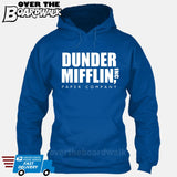 Dunder Mifflin Paper Company Logo Funny TV Joke [Hoodie] Hoodie / Royal Blue / Small - Over The Boardwalk Shirts