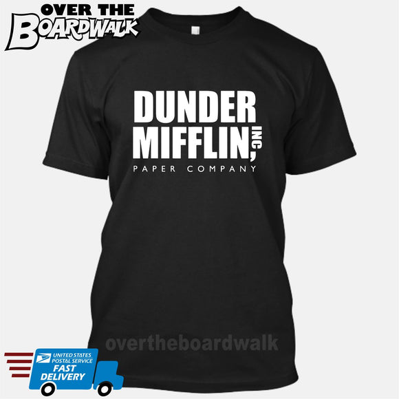 Dunder Mifflin Paper Company Logo Funny TV Joke [T-shirt/Tank Top] T-Shirt / Black / Small - Over The Boardwalk Shirts