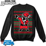 DABBING SANTA | Dabbing Santa Claus | Ugly Christmas Sweater [Unisex Crewneck Sweatshirt]-Over The Boardwalk Shirts