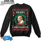 Merry Chrithmith | Mike Tyson | Ugly Christmas Sweater [Unisex Crewneck Sweatshirt]-Over The Boardwalk Shirts