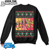Anime Cartoon Charater | narutodbz goku | Ugly Christmas Sweater [Unisex Crewneck Sweatshirt]-Over The Boardwalk Shirts
