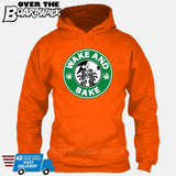 Wake and Bake | Coffee Logo |  Weed | Pot | Cannabis | Pop Culture [Hoodie] Hoodie / Orange / Small - Over The Boardwalk Shirts