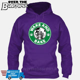 Wake and Bake | Coffee Logo |  Weed | Pot | Cannabis | Pop Culture [Hoodie] Hoodie / Purple / Small - Over The Boardwalk Shirts