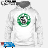 Wake and Bake | Coffee Logo |  Weed | Pot | Cannabis | Pop Culture [Hoodie] Hoodie / White / Small - Over The Boardwalk Shirts