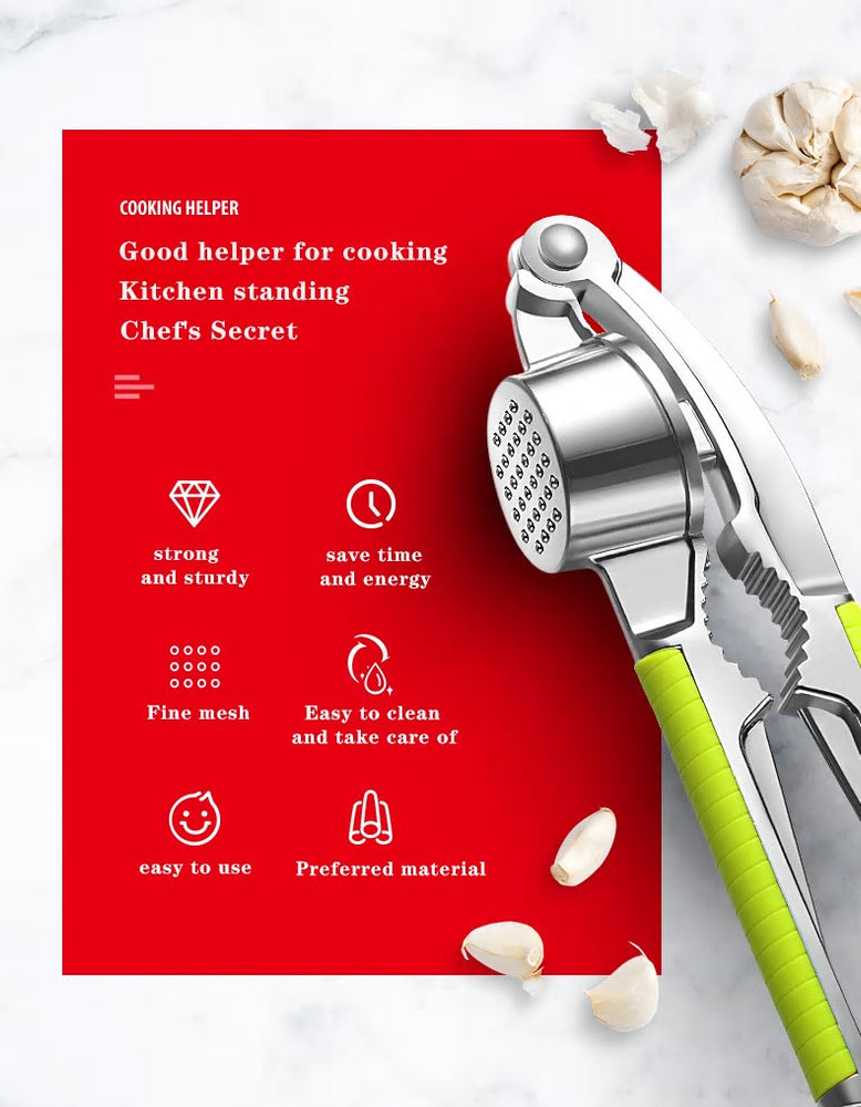 Professional Stainless Garlic Press