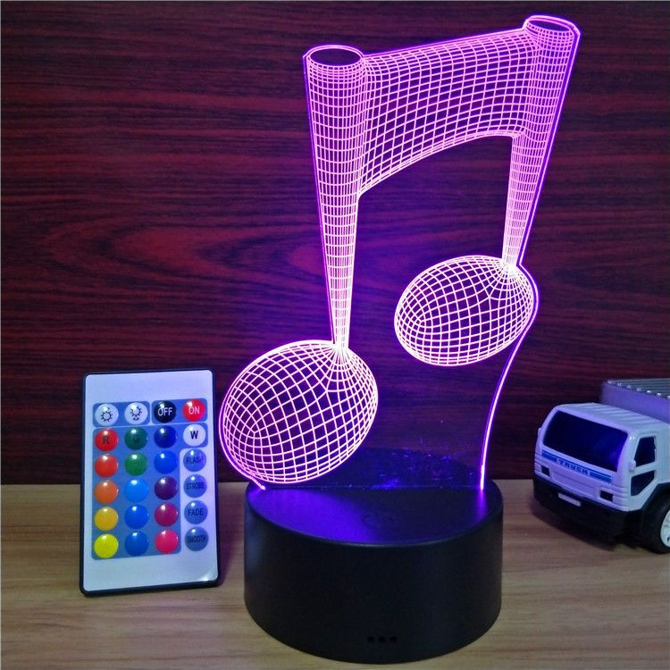 Music Note 3D Child's Bedside Nightlight - Organiza
