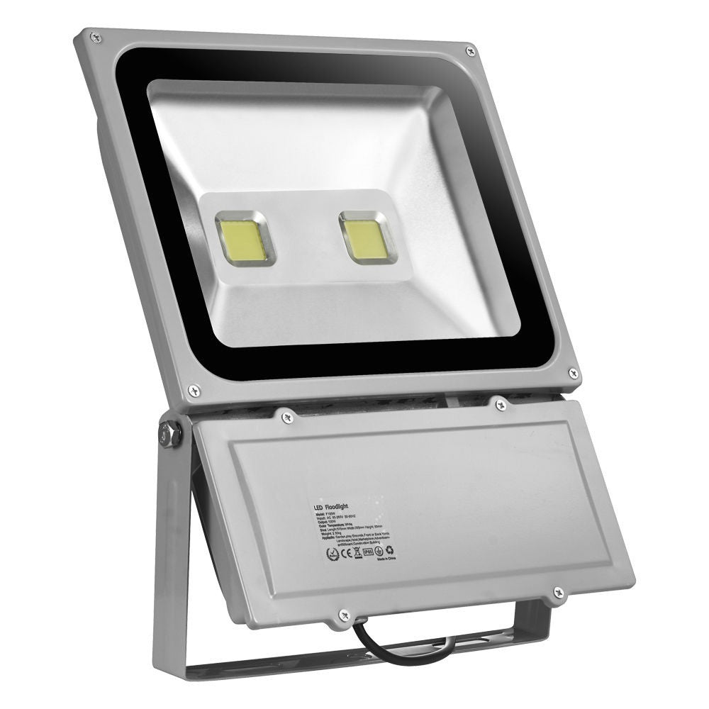 2 x 100W Quality LED Outdoor Floodlight Lamps