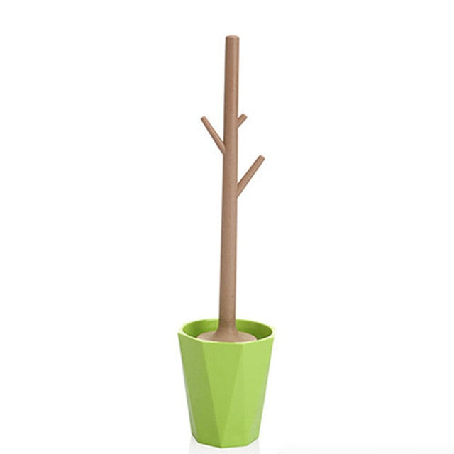 Creative tree-shaped toilet brush cleaner - Organiza