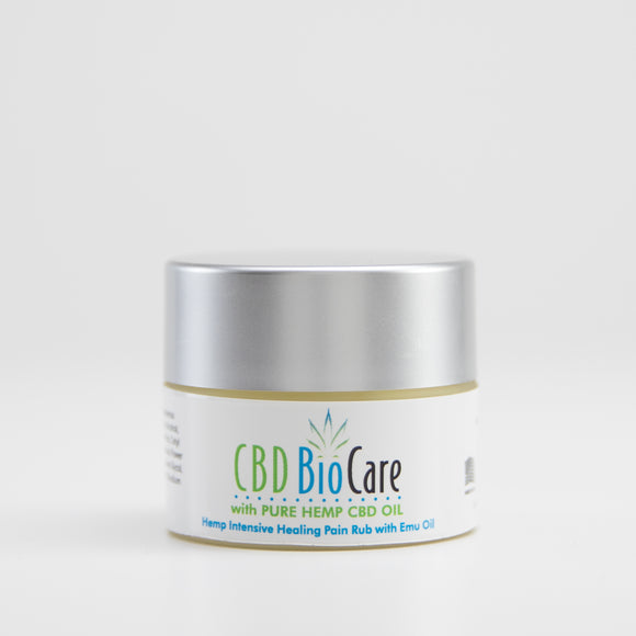 Cbdbiocare Pure Natural CBD Pain Balm With Emu Oil 1oz Cbdbiocare