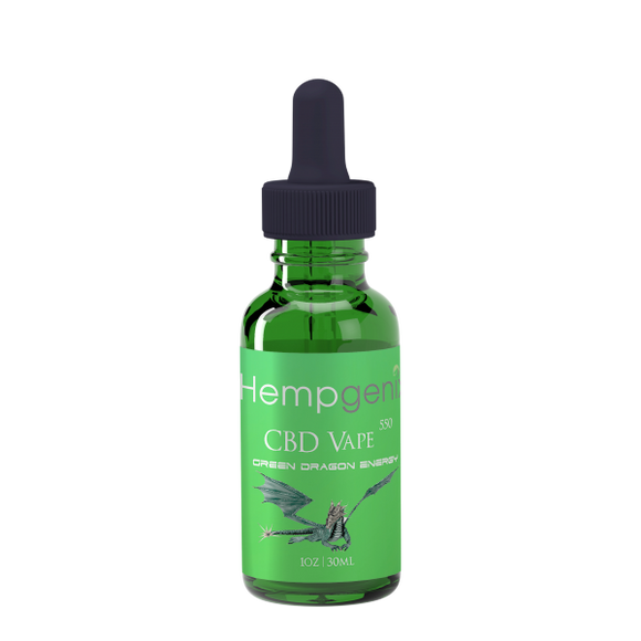 Hemp Genix HempGenix-CBD VAPE OIL 550MG GREEN DRAGON Hemp Genix