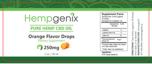 HempGenix-CBD OIL 250MG 1OZ ORANGE FLAVOR - Far Out CBD & Accessories