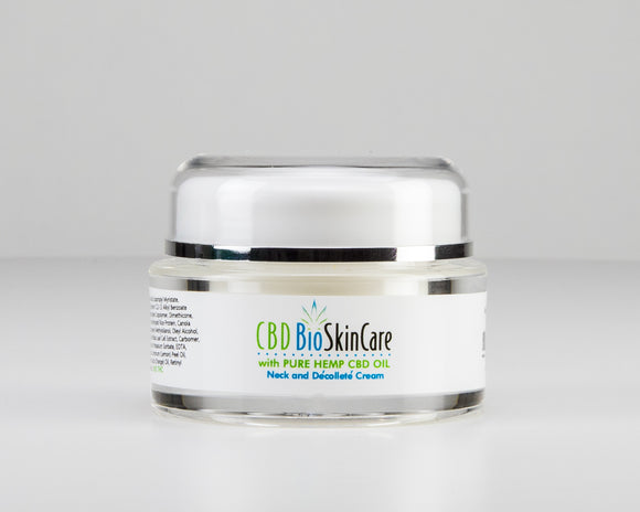 Cbdbiocare Pure Natural CBD Neck Décolleté Anti Aging Cream Cbdbiocare