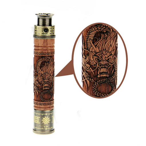 Vision Spinner E fire 2 Adjustable Wood Battery – Hand Carved - Far Out CBD & Accessories