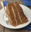 1 Slice - Low sugar 3 layered Walnut Coffee Cake