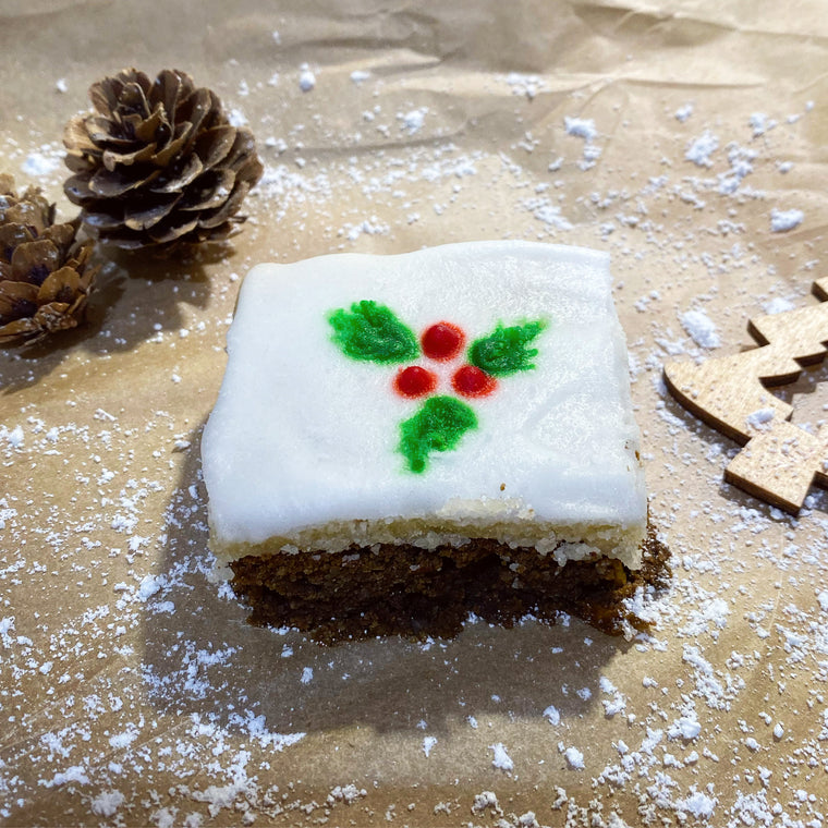 2 pcs Keto low carb Christmas Fruit cake slices squares - The Low Carb & Keto Bakery UK