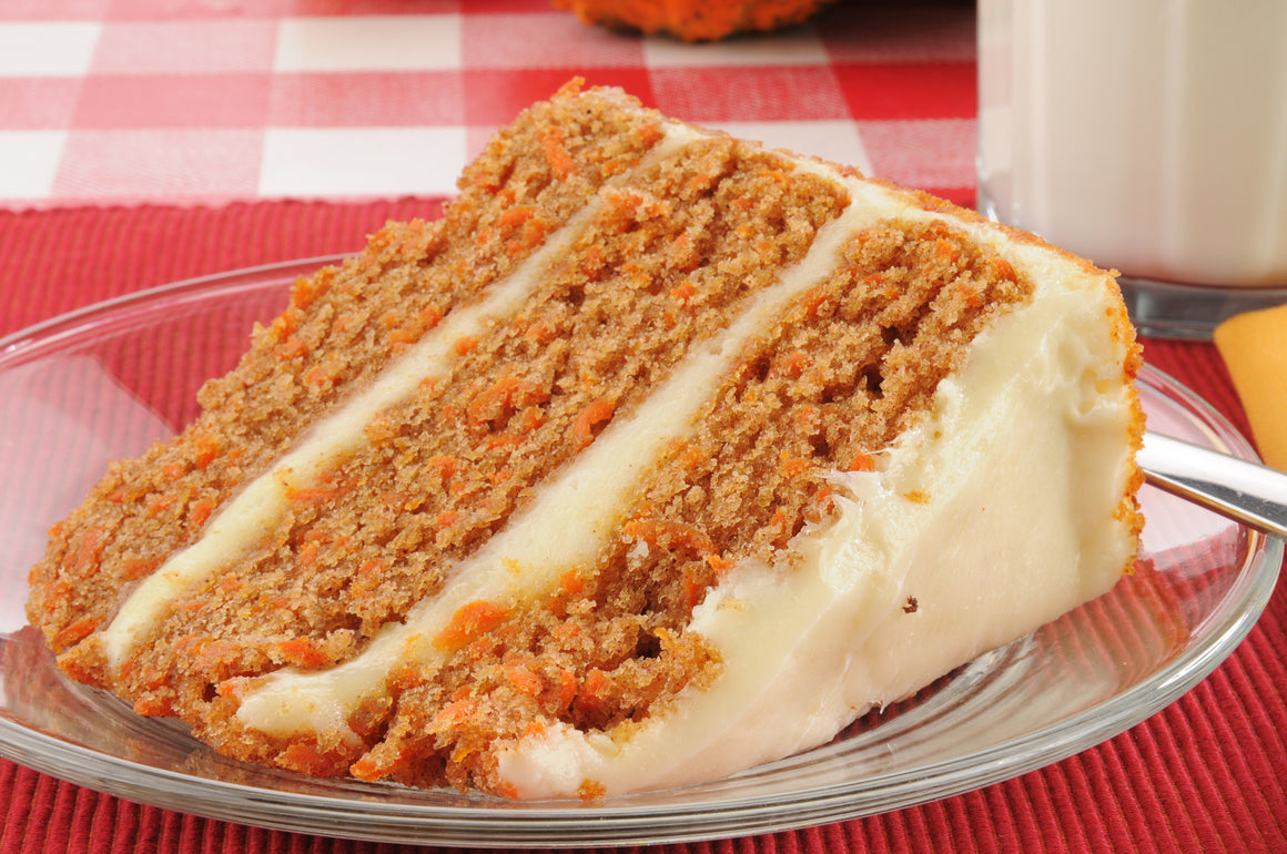 Cream Slice - Keto 3 layered frosted Carrot Gateaux Cake
