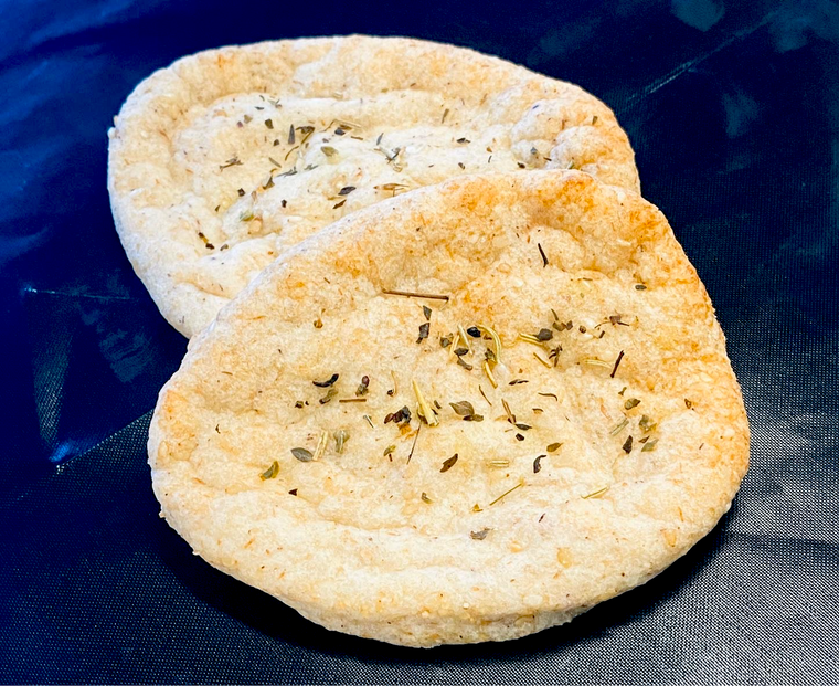 2 pcs Garlic & Herb Keto Naan Bread no added gluten Low Sugar