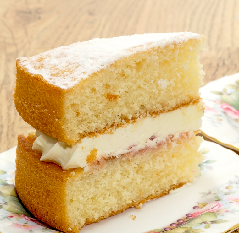 1 Slice - Low sugar 2 layered Victoria Sponge Cake
