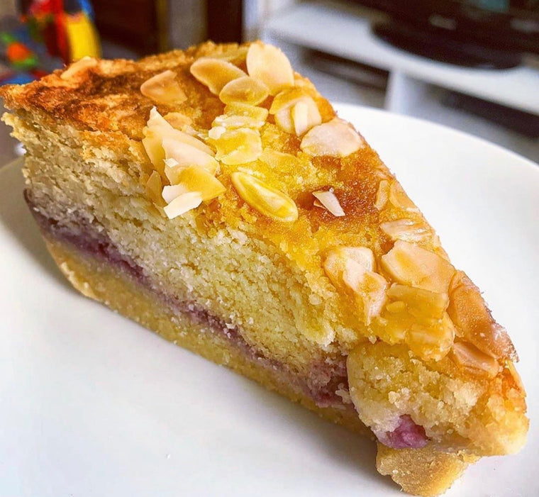 Almond & Raspberry Frangipane Tart Bakewell with sweeteners.      1 Slice -