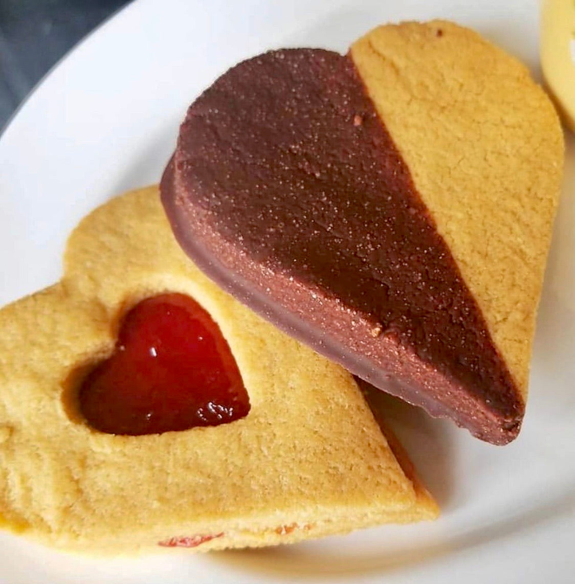1 Large Shortbread Heart Cookie /  Low Sugar Shortbread