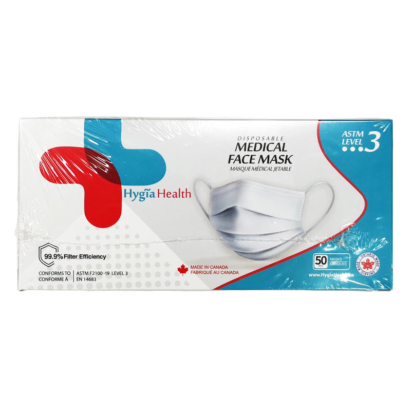 Accessories Disposable Medical Masks Level 3, 50pcs Made In Canada (2 for $65!) - Luggage CityHygia Health