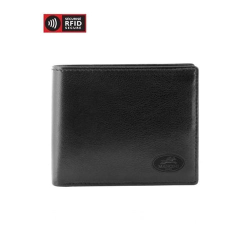 Mancini Men's Leather Center Wing Wallet MANCHESTER