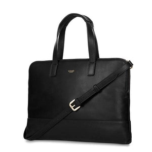 Knomo Reeves 14In Leather Slim Briefcase - Luggage City