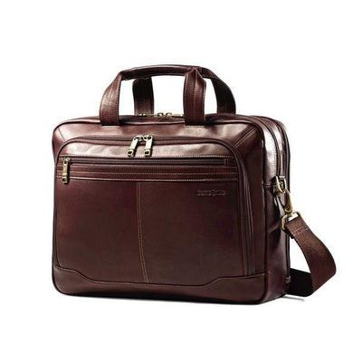 SAMSONITE COLUMBIAN LEATHER TOP ZIP 2 GUSSET