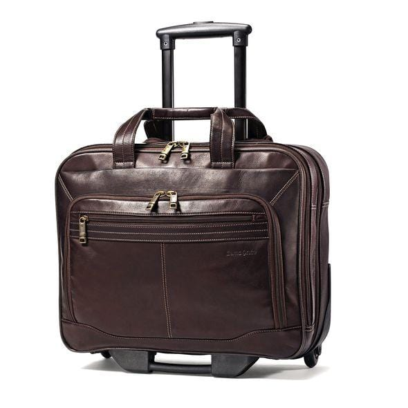 Samsonite Columbian Leather Mobile Office - Luggage City
