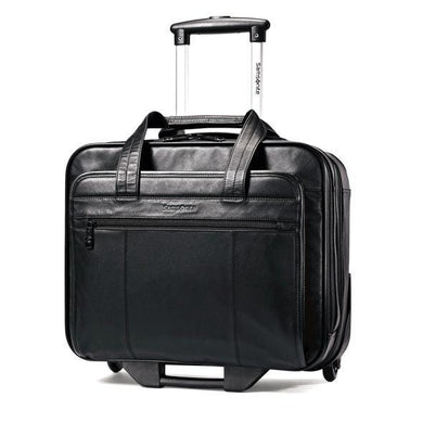 SAMSONITE COLUMBIAN LEATHER WHEELED BUSINESS CASE