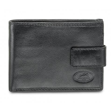 Brand Mancini Equestrian-2 Men's RFID Secure Wallet with Coin Pocket - Luggage CityMancini Black