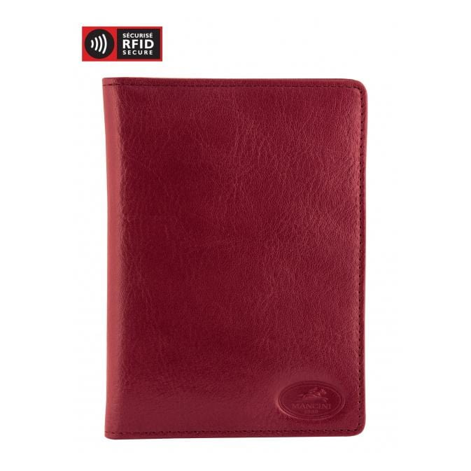 Brand Mancini Equestrian-2 Deluxe Passport Wallet - Luggage CityMancini Red