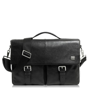 Knomo Jackson 15in Leather Laptop Briefcase