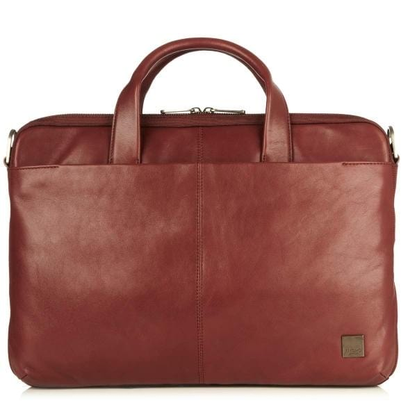 Knomo Henderson Leather Slim Briefcase - Luggage City