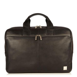 Knomo Newbury 15in Leather Zip Briefcase