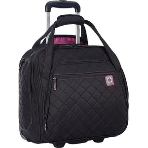"Delsey Quilted Rolling 15"" Underseat Tote"